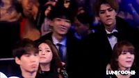 [1080p] 141203 EXO Sehun Chanyeol Focus (Watching BlockB BTS Stage) - MAMA in HK.mp4