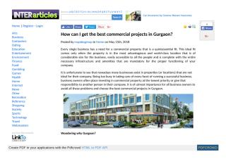 How can I get the best commercial projects in Gurgaon.pdf