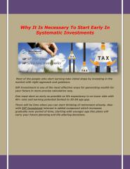 Why It Is Necessary To Start Early In Systematic Investment1.pdf