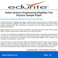 Indian Science Engineering Eligibility Test Physics Sample Paper.pdf