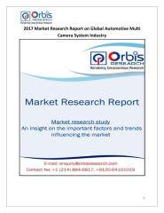2017 Market Research Report on Global Automotive Multi Camera System Industry.pdf
