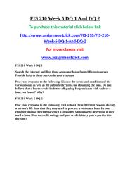 UOP FIS 210 Week 5 DQ 1 And DQ 2.doc